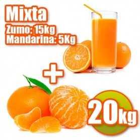 Mixta de zumo y mandarina