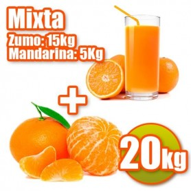 Mixte de jus et mandarine
