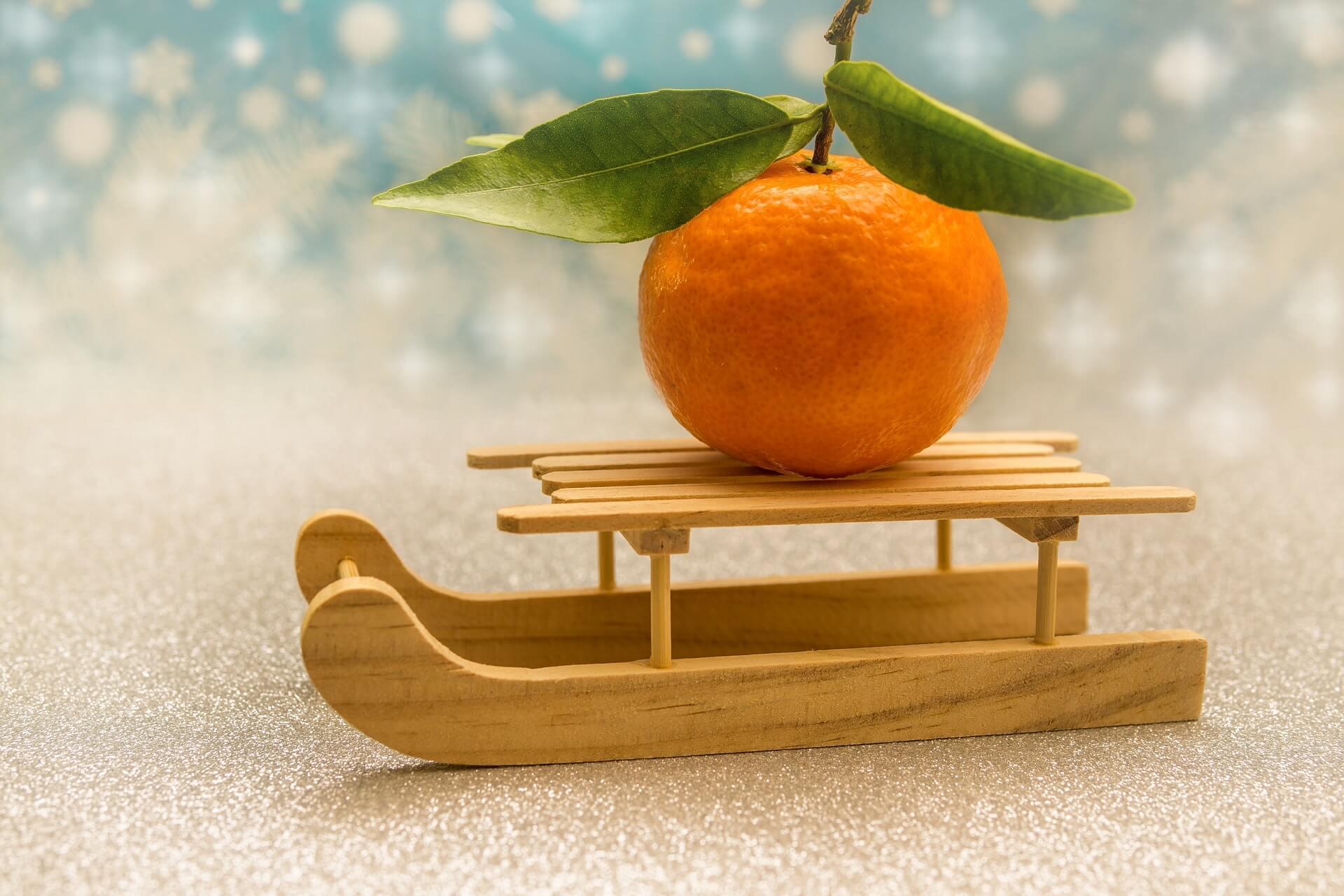 Regale naranjas por navidad